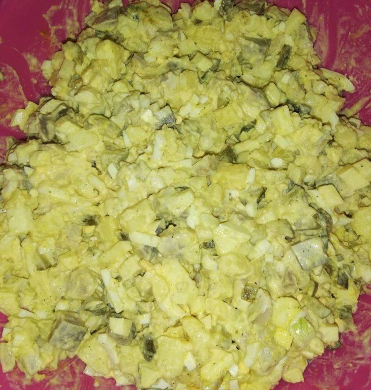 Heringssalat mit Kartoffeln