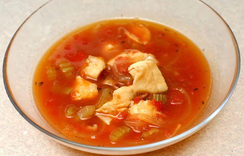 Fisch-Soljanka (nach einem russischen Rezept)