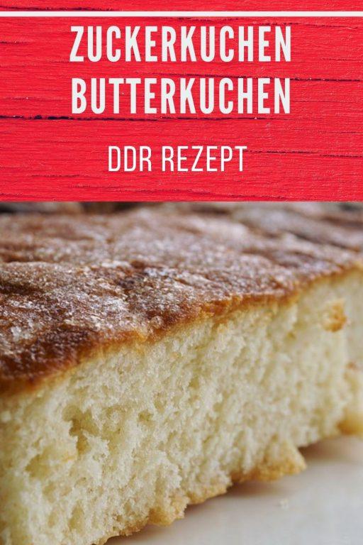Zuckerkuchen / Butterkuchen