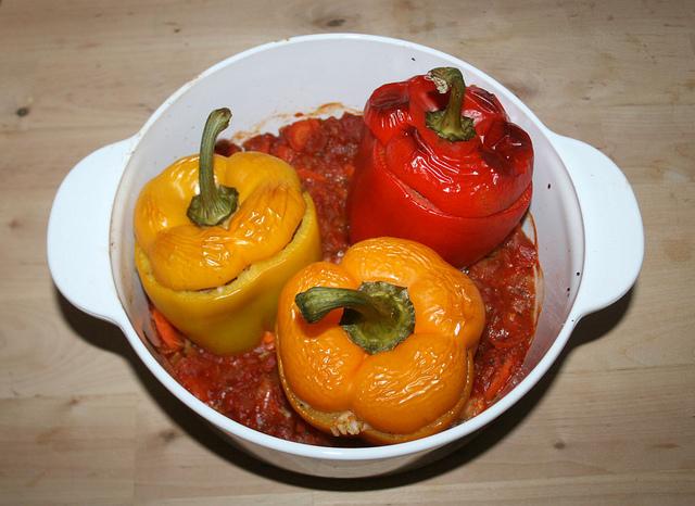 Gefüllte Paprikafrüchte