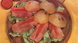 Schinkensteaks mit Pfirsichen