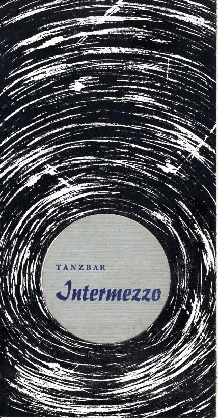 Speisekarte Tanzbar Intermezzo Leipzig (1973)