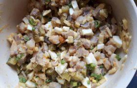 Matjessalat/Häckerle