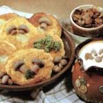 Lepeschki mit Pilzen