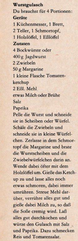 Wurstgulasch